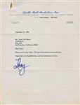 Lucy Ball Typed Letter Signed on Her Production Companys Stationery -- 1980