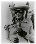 Clayton Moore 8 x 10 Signed Photo -- Clayton Moore / Lone Ranger -- Near Fine Condition