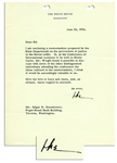 Dwight D. Eisenhower Typed Letter Signed as President -- ...the perversion of justice in the Soviet orbit...