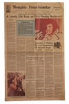 Elvis Presley Newspaper on His Death -- Special Edition From Memphis, Elvis Hometown, Following His 16 August 1977 Death