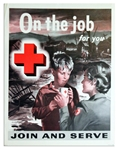 Vintage Red Cross On the Job Poster