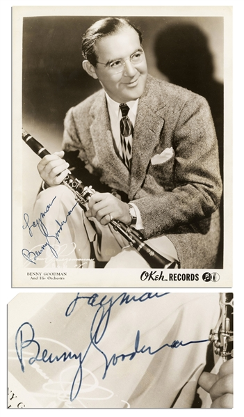 ''King of Swing'' Benny Goodman Signed 8'' x 10'' Photo
