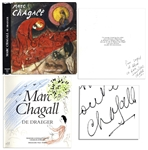 Beautiful, Original Artwork by Marc Chagall in His Book, Peintre Sous un Arbre Signed