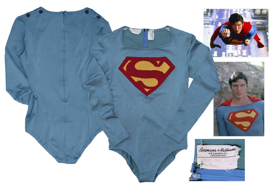 Superman Costume Auction Superman Hero Costume Worn by Christopher Reeve in the 1978 Superman Film