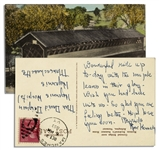 Rose Kennedy Autograph Postcard Signed -- Written From Vermont to Her Maid in Hyannisport in 1953