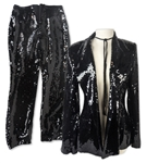 Alicia Keys Personally Worn Black Sequin Suit by Designer Marcel Marongiu, Likely Worn While Performing -- With a COA From Alicia Keys