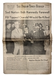 The Dallas Times-Herald From 25 November 1963 -- Sad Nation Bids Kennedy Farewell / FBI Tipped Oswald Would Be Killed