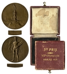 Bronze Olympic Medal From the 1920 Summer Olympics, Held in Antwerp, Belgium