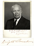President Dwight Eisenhower Signed 11 x 14 Photograph