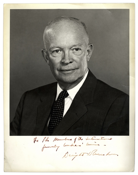 President Dwight Eisenhower Signed 11'' x 14'' Photograph
