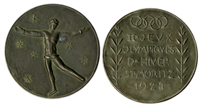 Bronze Olympic Medal From the 1928 Winter Olympics, Held in St. Moritz, Switzerland