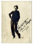 Charlie Chaplin Signed Photograph as the Tramp -- With JSA COA