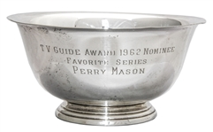 Perry Mason TV Guide Award Nomination Bowl From 1962 -- Personally Owned by Raymond Burr