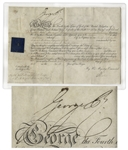 King George IV Military Appointment Signed From 1823