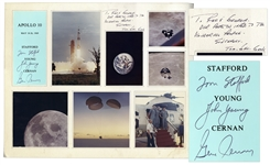 Apollo 10 Crew-Signed Poster -- Signed by Tom Stafford, John Young & Gene Cernan -- From the Red Skelton Estate