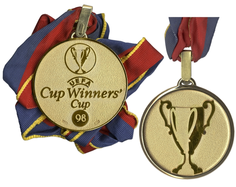 Lot Detail Uefa Cup Winners 39 Cup Gold Medal Won By