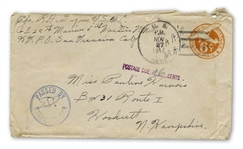 Rene Gagnon Signed Envelope From 1944 While a WWII Marine