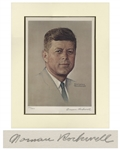 Norman Rockwell Limited Edition Lithograph of President John F. Kennedy -- Signed by Norman Rockwell