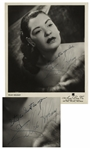 Billie Holiday Signed 8 x 10 Photograph -- Stay as Great as you Are / Billie Holiday