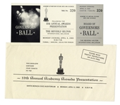 1965 Academy Awards Ticket to Oscar Ceremony & Governors Ball