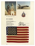 Space-Flown U.S. Flag from Columbia STS-1 Mission