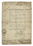 Louis XVI 1790 Document Signed as King of France -- Three Years Before He Was Executed by Guillotine
