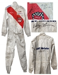 Bobby Allison Race-Worn & Twice-Signed 1975 Fire Suit