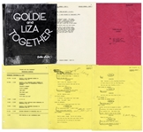Goldie Hawns Hand-Annotated Script for Goldie & Liza Together TV Special