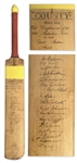 Cricket Bat Signed by The Invincibles -- Famous 1948 Australian Team Considered the Greatest of All Time