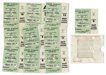 Full Set of England Tickets from Historic 1966 World Cup -- The Only World Cup Won by England -- Also the World Cup That Made Pickles the Dog Famous