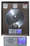 Guns N Roses RIAA Multi-Platinum Record Award for G N R Lies -- From George Marino Estate