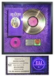 The Jimi Hendrix Experience Gold Record Award -- From George Marino estate.
