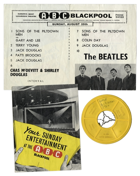 The Beatles Concert & Backstage Footage From August 1963 -- Possibly the Earliest Color Footage of The Beatles -- With Copyright & Provenance From Sotheby's