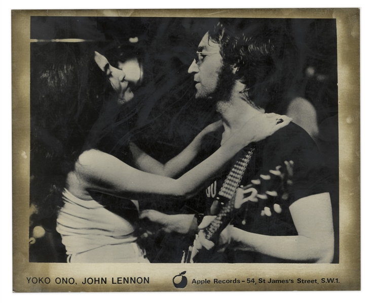 John Lennon & Yoko Ono Original 10 x 8 Silver Gelatin Photographs From Apple Records