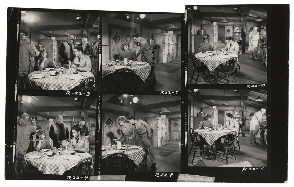 Elvis Contact Sheet of Photos From G.I. Blues