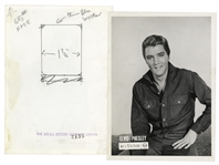 Elvis Publicity Photograph From Decca Records