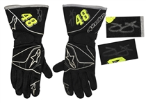 Jimmie Johnson Race-Worn & Signed Driving Gloves -- With COA From Jimmie Johnson Foundation
