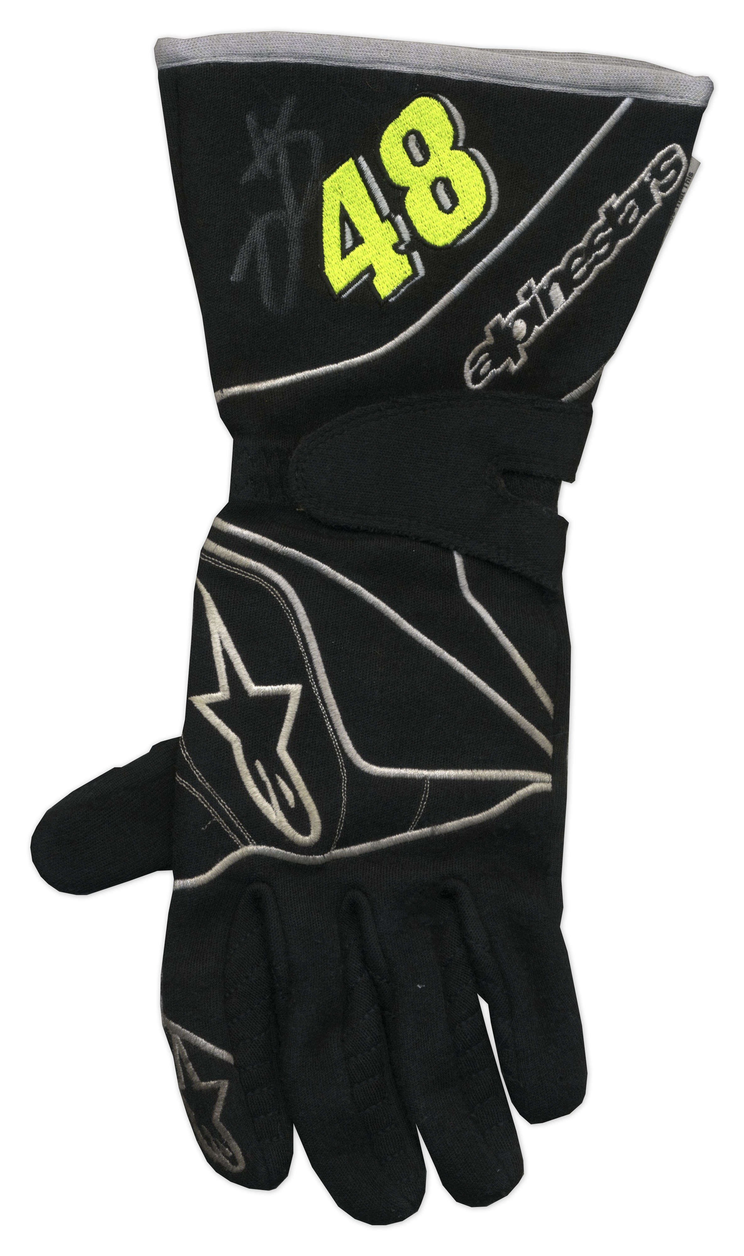 Driving gloves racing -  Jimmie Johnson Race Worn Signed Driving Gloves With Coa From Jimmie Johnson