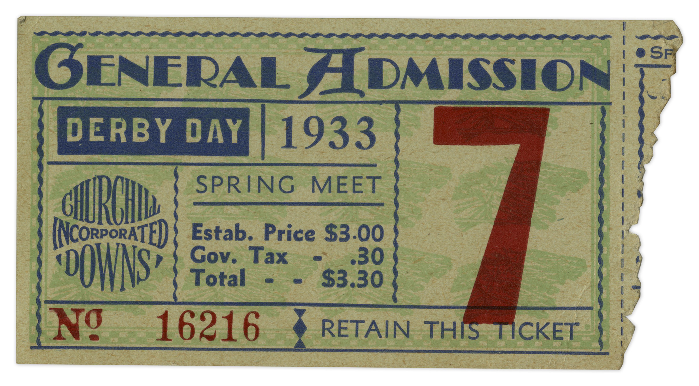 Lot Detail   25 Kentucky Derby Ticket Stub