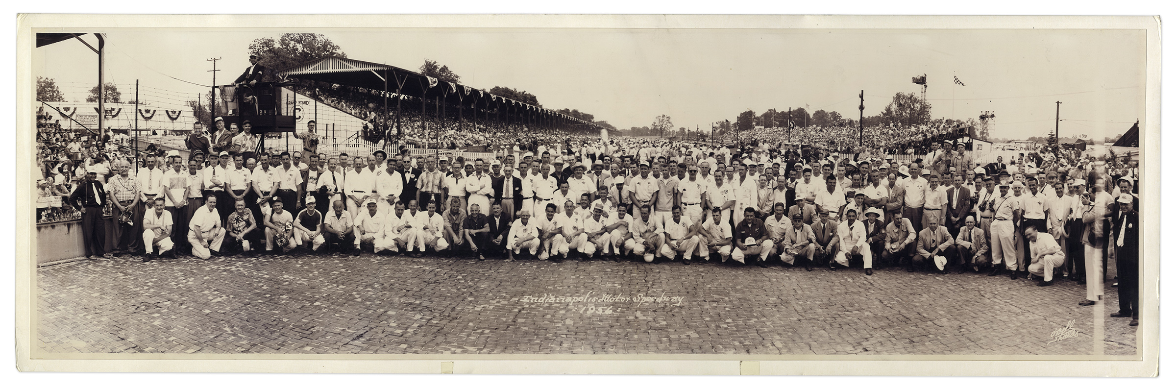 1956 Indy 500 Pre Race Panoramic Photo