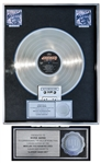 Bon Jovi RIAA Multi-Platinum Record Award for Slippery When Wet -- From George Marino Estate
