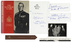 Duke and Duchess of Windsor Signed Book, The Windsor Years -- With Additional Signed Photo by Wallis Simpson