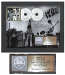 The Who RIAA Platinum Record Award for The Ultimate Collection