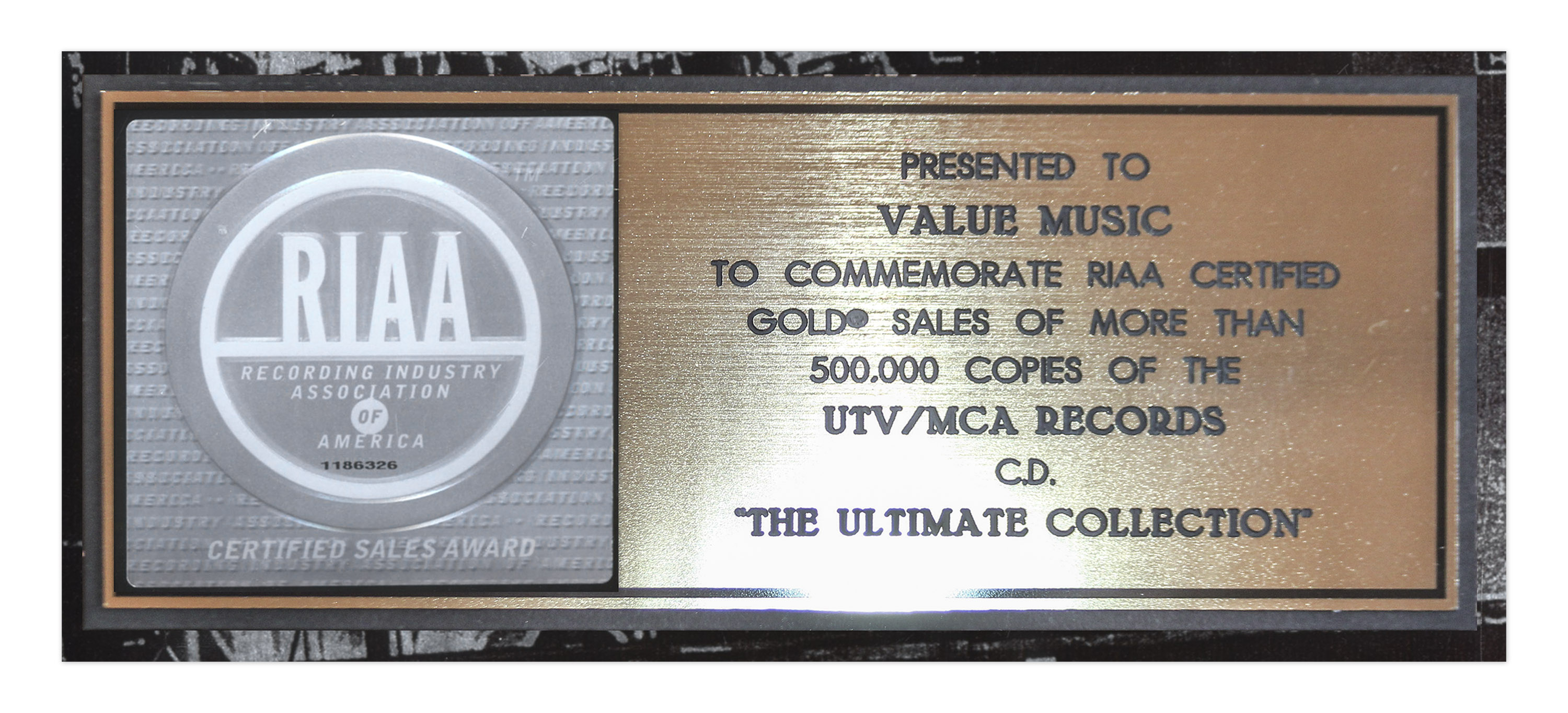 Lot Detail The Who Riaa Platinum Record Award For The Ultimate