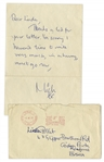 Mick Jagger Autograph Letter Signed From 1965 -- With Hand-Addressed Envelope by Mick