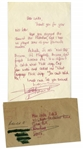 Keith Richards Autograph Letter Signed From 1965 -- ...It is difficult to catch what Mick sings...