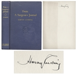 Harvey Cushing Signed Neurosurgery Book, From a Surgeons Journal -- Uninscribed