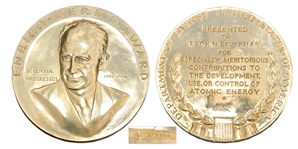 Prestigious Gold Enrico Fermi Award Presented to Physicist Leon Lederman in 1992 -- One of the Greatest U.S. Honors to Scientific Achievement