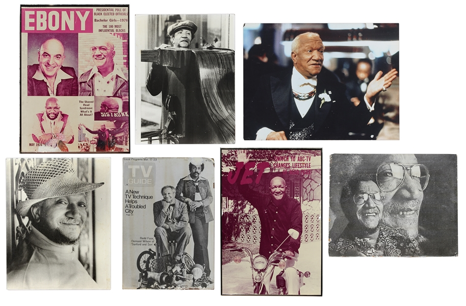 7 Redd Foxx Posters Including ''Sanford & Son'' Still Photo -- Each Measures Between 20'' x 30'' to 30'' x 40'', Good to Very Good Condition -- From Redd Foxx Estate