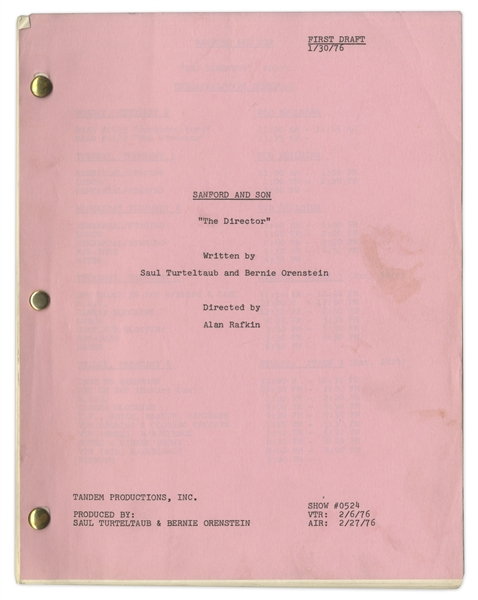 ''Sanford & Son'' Season 5, Episode 21 First Draft Script Owned & Annotated by Redd Foxx -- 41 Pages -- Very Good Condition -- From Redd Foxx Estate